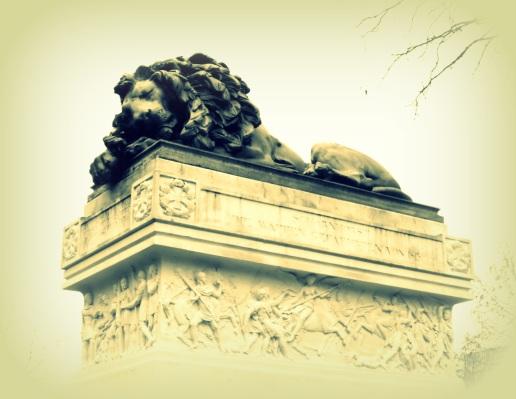schlafender Löwe